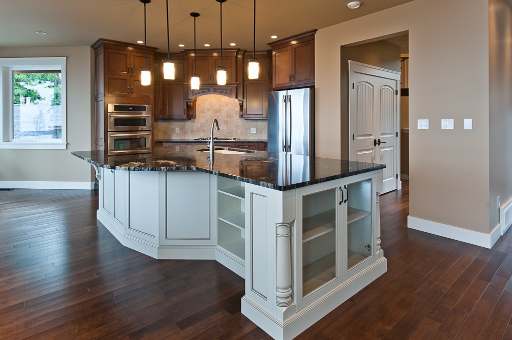 irregular shaped kitchen islands saltair custom home with detached carriage house custom 4804